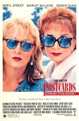 "Постер к фильму ""Открытки с грани безумия"" /Postcards from the Edge/ (1990)"