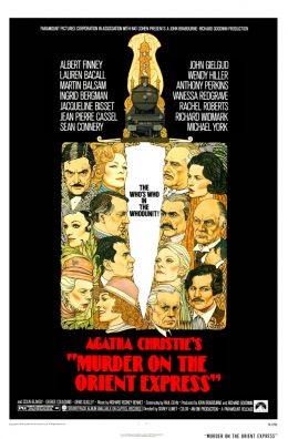 """Постер к фильму """"Убийство в Восточном экспрессе"""" /Murder on the Orient Express/ (1974)"""