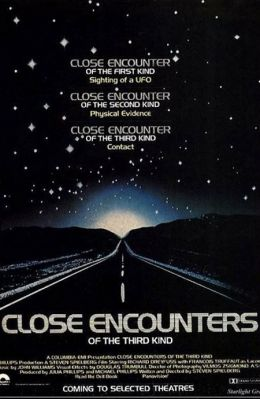 """Постер к фильму """"Близкие контакты третьей степени"""" /Close Encounters of the Third Kind/ (1977)"""
