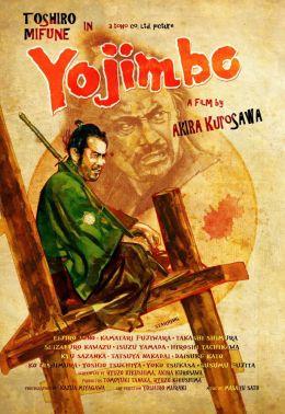 """Постер к фильму """"Телохранитель"""" /Yojimbo/ (1961)"""