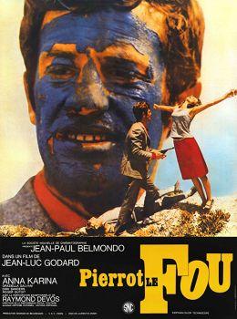 """Постер к фильму """"Безумный Пьеро"""" /Pierrot le Fou/ (1965)"""