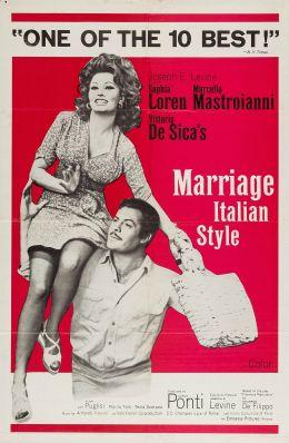 """Постер к фильму """"Брак по-итальянски"""" /Marriage Italian Style/ (1964)"""