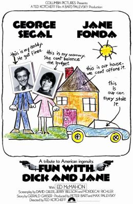 """Постер к фильму """"Забавные приключения Дика и Джейн"""" /Fun with Dick and Jane/ (1977)"""