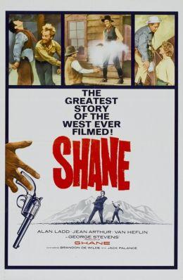 """Постер к фильму """"Шэйн"""" /Shane/ (1953)"""