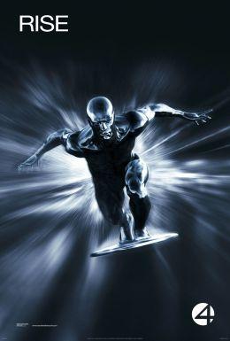"""Постер к фильму """"Фантастическая четверка 2: Вторжение Серебряного Серфера"""" /4: Rise of the Silver Surfer/ (2007)"""