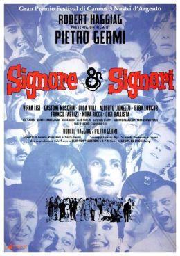 """Постер к фильму """"Дамы и господа"""" /Signore & signori/ (1965)"""