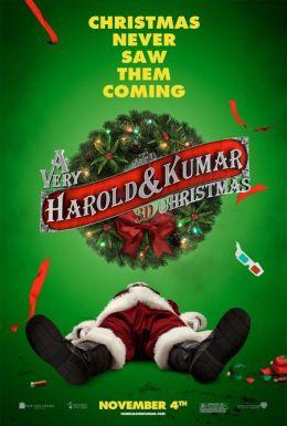 """Постер к фильму """"Убойное Рождество Гарольда и Кумара"""" /A Very Harold & Kumar 3D Christmas/ (2011)"""
