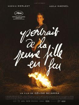 """Постер к фильму """"Портрет женщины в огне"""" /Portrait de la jeune fille en feu/ (2019)"""