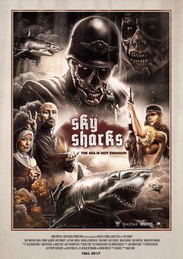 """Постер к фильму """"Небесные акулы"""" /Sky Sharks/ (2017)"""