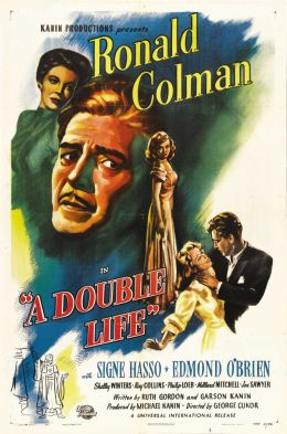 """Постер к фильму """"Двойная жизнь"""" /A Double Life/ (1947)"""