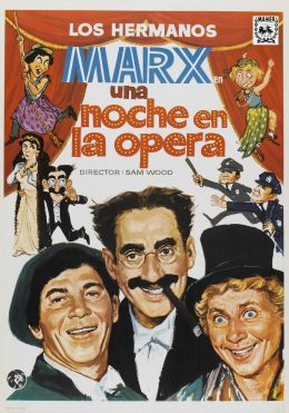 """Постер к фильму """"Вечер в опере"""" /A Night at the Opera/ (1935)"""