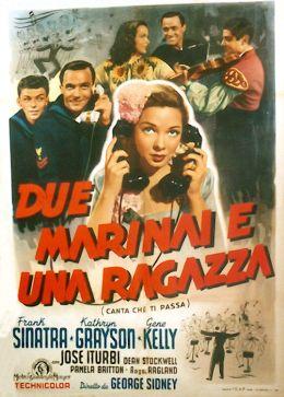 """Постер к фильму """"Поднять якоря"""" /Anchors Aweigh/ (1945)"""