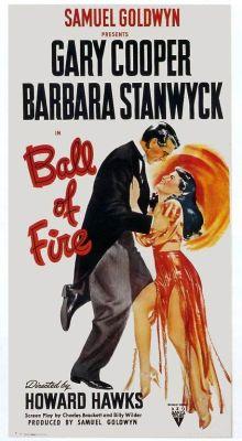 """Постер к фильму """"С огоньком"""" /Ball of Fire/ (1941)"""