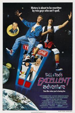"""Постер к фильму """"Невероятные приключения Билла и Теда"""" /Bill & Ted's Excellent Adventure/ (1989)"""