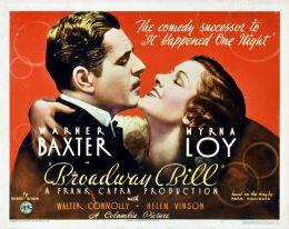 """Постер к фильму """"Бродвей Билл"""" /Broadway Bill/ (1934)"""