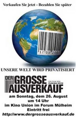 """Постер к фильму """"Большая распродажа"""" /Der grose Ausverkauf/ (2007)"""