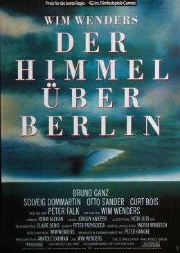 """Постер к фильму """"Небо над Берлином"""" /Der Himmel uber Berlin/ (1987)"""
