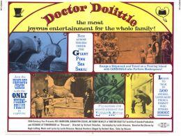 """Постер к фильму """"Доктор Дулиттл"""" /Doctor Dolittle/ (1967)"""