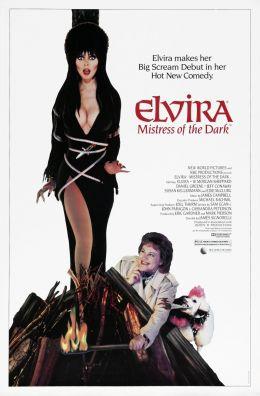 """Постер к фильму """"Эльвира: Повелительница тьмы"""" /Elvira: Mistress of the Dark/ (1988)"""
