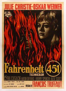 """Постер к фильму """"451 градус по Фаренгейту"""" /Fahrenheit 451/ (1966)"""