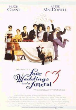 """Постер к фильму """"Четыре свадьбы и одни похороны"""" /Four Weddings and a Funeral/ (1994)"""