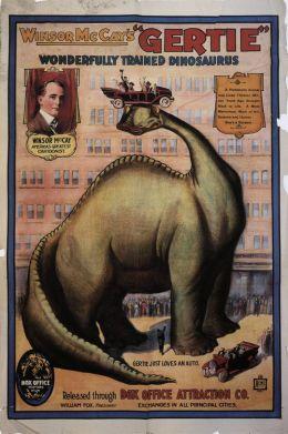 """Постер к фильму """"Динозавр Герти"""" /Gertie the Dinosaur/ (1914)"""