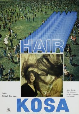"""Постер к фильму """"Волосы"""" /Hair/ (1979)"""