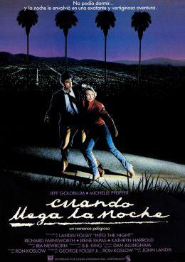 """Постер к фильму """"В ночи"""" /Into the Night/ (1985)"""