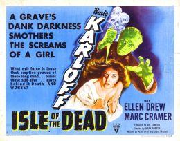 """Постер к фильму """"Остров мертвых"""" /Isle of the Dead/ (1945)"""