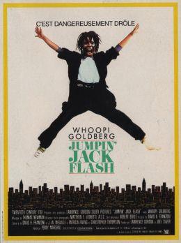 """Постер к фильму """"Джек-попрыгун"""" /Jumpin' Jack Flash/ (1986)"""