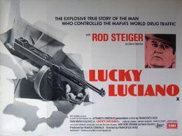 """Постер к фильму """"Лаки Лучиано"""" /Lucky Luciano/ (1973)"""
