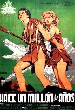 """Постер к фильму """"Миллион лет до нашей эры"""" /One Million B.C./ (1940)"""