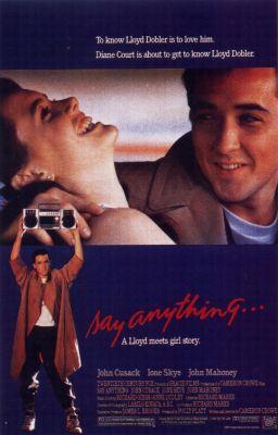 """Постер к фильму """"Скажи что-нибудь"""" /Say Anything.../ (1989)"""