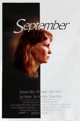 """Постер к фильму """"Сентябрь"""" /September/ (1987)"""