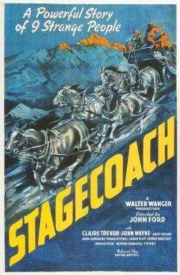 """Постер к фильму """"Дилижанс"""" /Stagecoach/ (1939)"""