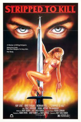 "Постер к фильму ""Раздетая для убийства"" /Stripped to Kill/ (1987)"