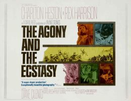"Постер к фильму ""Агония и экстаз"" /The Agony and the Ecstasy/ (1965)"