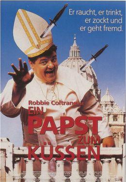 """Постер к фильму """"Папа Римский должен похудеть"""" /The Pope Must Die/ (1991)"""
