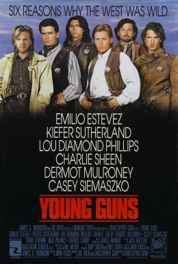 """Постер к фильму """"Молодые стрелки"""" /Young Guns/ (1988)"""