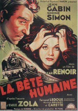 "Постер к фильму ""Человек-зверь"" /La bete humaine/ (1938)"