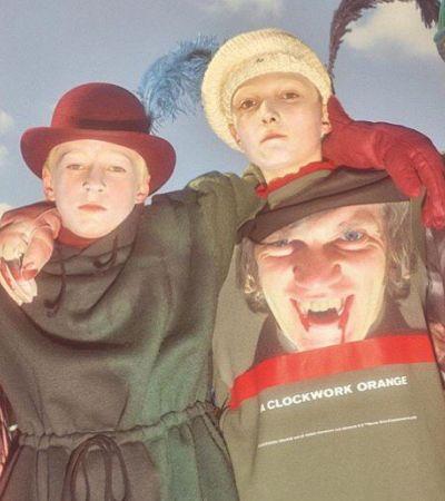 Вышла фотосессия Undercover с детьми в принтах «Заводного апельсина»