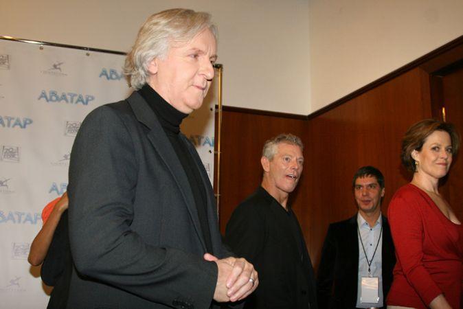 Джеймс Кэмерон и команда «Аватара» в Москве