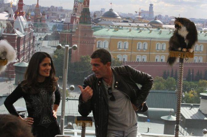 Сальма Хайек и Антонио Бандерас в Москве