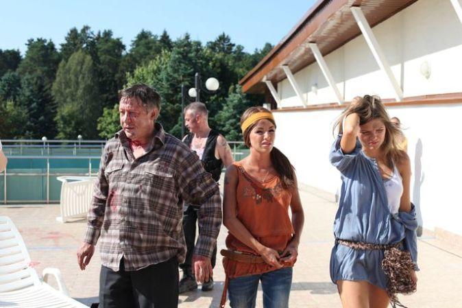 Съемки фильма «9 1/2 зомби»
