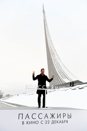 Крис Пратт представил фильм «Пассажиры» в Москве