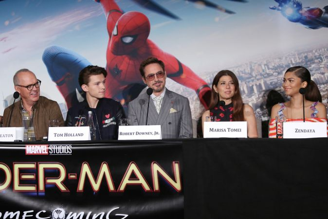 Фотоколл и пресс-конференция фильма «Человек-паук: Возвращение домой» в Нью-Йорке