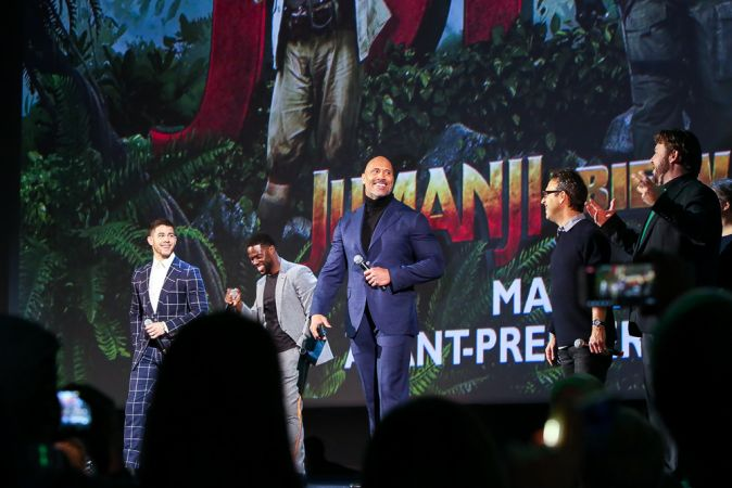 """Premiere of the film """"Jumanji: The Call of the Jungle"""" in Paris"""