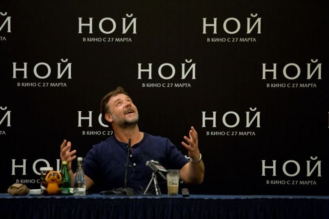 Рассел Кроу впервые посетил Москву с премьерой фильма «Ной»