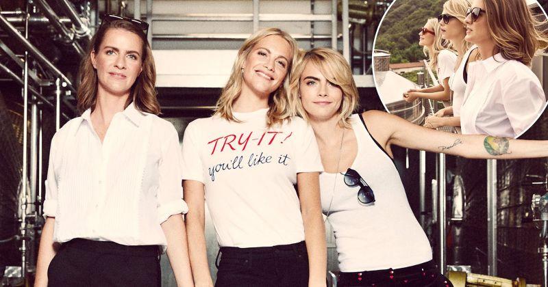 Кара Делевинь вместе с сестрами запустила свой винный бренд